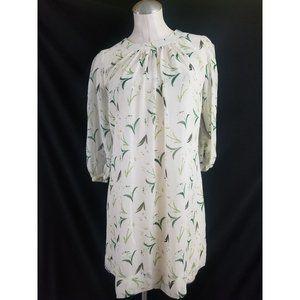 Eva Mendes NY&CO Size XS Cream Green Dress